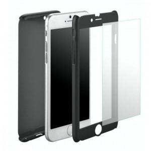 Husa Samsung Galaxy S7 Flippy Full Cover 360 Negru + Folie de protectie