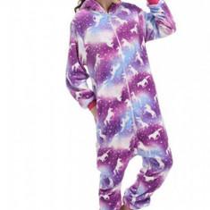 PJM146-2112 Pijama pufoasa intreaga cu model unicorn
