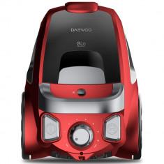 Aspirator fara sac Daewoo RCC-230R/3A, 800 W, 2.5L, Tub telescopic din metal, Rosu