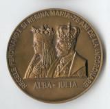 Regele Ferdinand & Regina Maria 75 ani de la Incoronare  Alba Iulia - Medalie