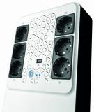 UPS Legrand MULTIPLUG 800, 800VA/480W, 6x German standard sockets, USB charger, baterie 1x 12V 7.2Ah, 230V, tehnologie Line interactiv, dimensiuni 190