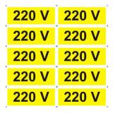 Indicator 220 V (10 etichete pe coala) - Semn Protectia Muncii