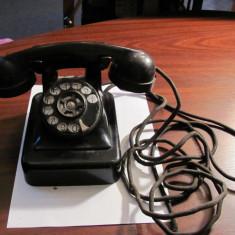 Telefon vechi ebonita complet discul roteste perfect stare deosebita / nemarcat