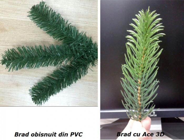 """BRAD ARTIFICIAL Cu Aspect Natural """"Premium"""" 180 cm, Ace 2D + 3D"""