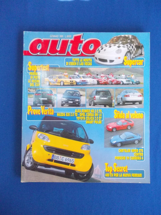 REVISTA AUTO ( IN ITALIANA ) , NR. 1 ( IANUARIE ) / 1999