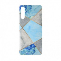Husa Frozen Dreams pentru iPhone X/XS, TPU+Acryl, Model Marble Clouds