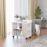 Masă laterală, alb, 70 x 35 x 55 cm, PAL, vidaXL