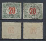 ROMANIA 1919 Emisiunea Cluj 20 BANI porto eroare BAN_I & eroare deplasare