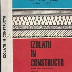 Izolatii In Constructii - C. Stoica, V. Stan - Tiraj: 1290 Exemplare