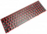 Tastatura laptop, Lenovo, IdeaPad Z580, G585, Z585, G585A, V585, cu rama, rosie, US