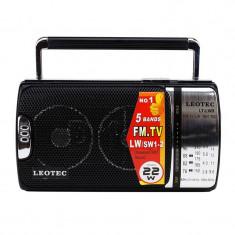 Radio portabil Leotec LT-LW9 Negru / Argintiu