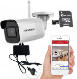 Cumpara ieftin Camera de supraveghere IP Wireless 5MP, IR 30m Hikvision + adaptor + card SD 128GB