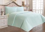 Cuvertură de pat Valentini Bianco din brocard, model Angel Vernil