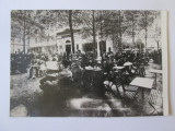 Fotografie 113 x 78 mm din anii 70 Bucuresti-Terasa Oteteleșanu in anii 20