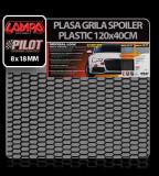Plasa grila spoiler plastic Negru - Hexagon mic 8x18 mm - 120x40 cm - CRD-LAM04607 Auto Lux Edition