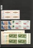 Romania.1965/92 COLECTIE timbre nestampilate  bloc 4 in 6 (sase) clasoare
