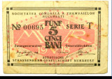 5 bani 1918 ocupatie germana