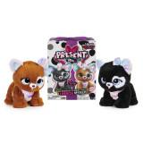 Jucarie interactiva cadou surpriza Glitter Pup, Multicolor, Spin Master