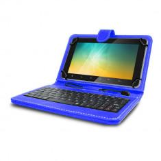 Husa tableta model X cu tastatura MRG, MicroUSB, 10 inch, Albastru C404 foto