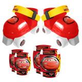 Cumpara ieftin Patine cu rotile si set de protectie Cars, Marime 23-27, Disney Cars