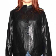 Haina dama, din piele naturala, marca Kurban, 13405-01-95, negru , marime: L