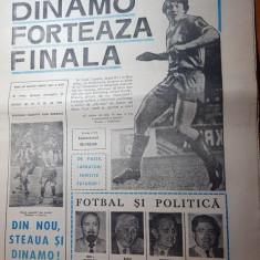ziarul fotbal 13 aprilie 1990-dinamo forteaza finala in cupa cupelor,steaua