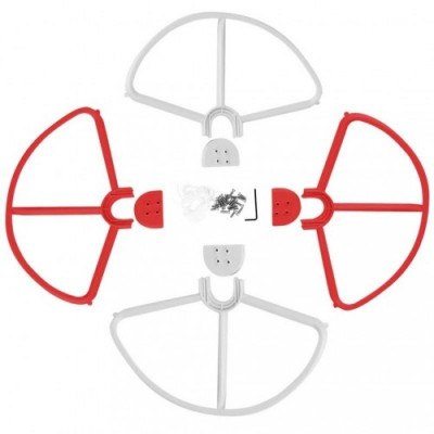 Rotor-schutz-set / abdeckungen passend pentru dji phantom 2,3 u.a. weiß-rot, , foto
