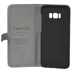 Husa de piele NEVOX Ordo Book Samsung Galaxy S8 Plus Black