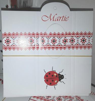 Cartonașe pt cutii  martisoare 100 bc/ set, 5/14 cm model buburuza foto