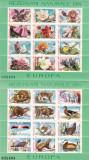 ROMANIA 1987  LP 1187 REZERVATII NATURALE EUROPA FLORA SI FAUNA - BLOCURI  MNH