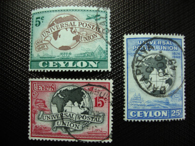 CEYLON 1949 SERIE UPU foto