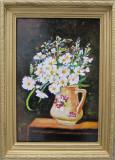 Tablou \ Pictura cana cu flori semnat Cimpoesu