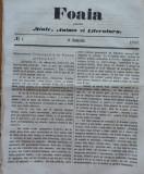 Foaia pentru minte , inima si literatura , nr. 1 , 1863 , Brasov , Bolintineanu