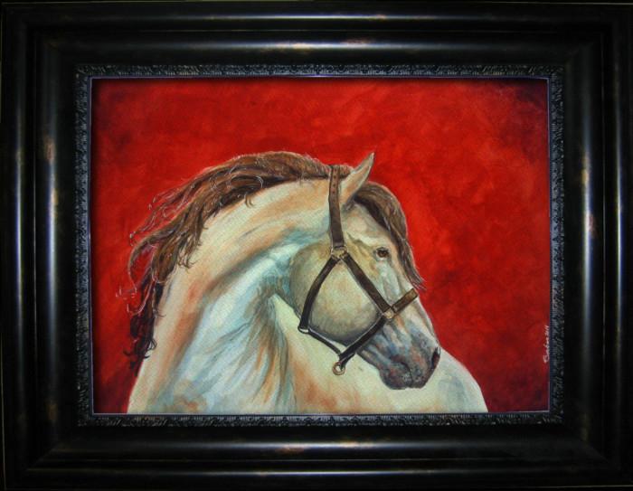 Acuarela cal sur, semnata, neinramata -tablou tablouri pictura picturi