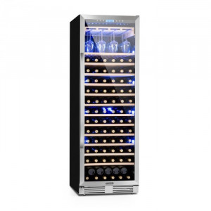 Klarstein VINOVILLA GRANDE, vinotecă cu volum mare, frigider, 425 l, 165 sticle., 3 led-uri de culoare, ușă din sticlă