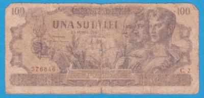 (5) BANCNOTA ROMANIA - 100 LEI 1947 (25 IUNIE 1947) foto