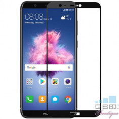 Folie Sticla Huawei P Smart Protectie Display Acoperire Completa Neagra
