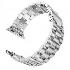 Curea metalica compatibila cu Apple Watch, 40mm, Argintiu