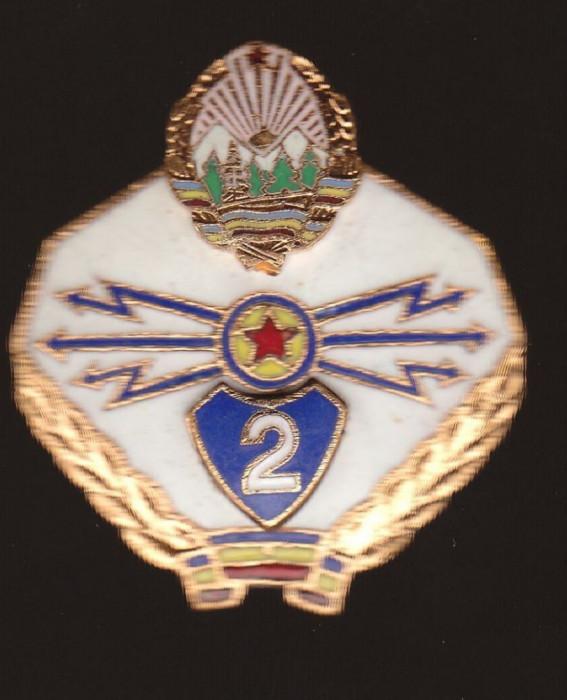Insigna Militara - TRANSMISIUNI - armata romana RSR, clasa a 2a