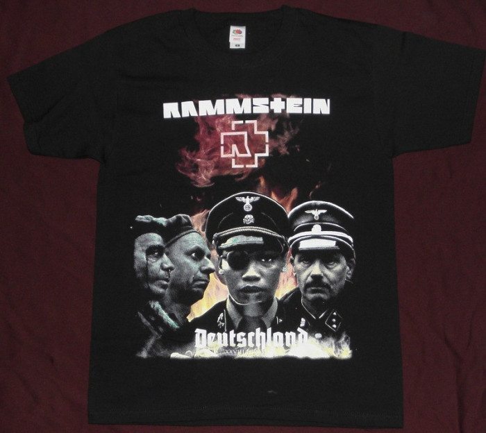Rammstein - Deutchland,pe tricou de calitate,Fruit of the Loom,tricouri rock