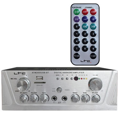 AMPLIFICATOR STEREO KARAOKE USB MP3/SD/BLUETOOTH foto