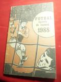 Federatia Romana de Fotbal - Agenda de Toamna 1988 , 96 pag