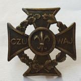 Insigna veche CERCETASI - superba acordata in al doilea razboi mondial 1930-1940