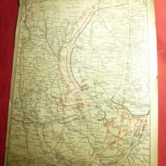 2 Harti Militare ww1-Situatia Frontului la 12nov si 18-19 nov 1916 Romania 25x32
