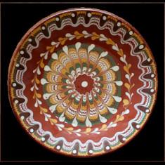 Farfurie, ceramica, lut, 25cm, 016356,