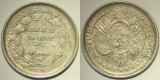 50 centavos/ Medio boliviano, 1896 Bolivia - de argint, cu eroare de batere
