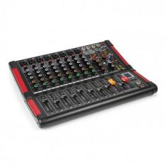 Power Dynamics PDM-M804, mixer muzical, 8 intrări de microfon, procesor multi-fx 24-biti