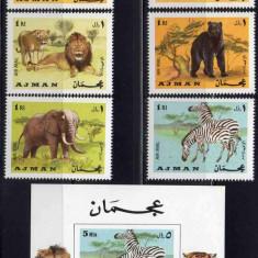 AJMAN 1969, Fauna, MNH, Nestampilat
