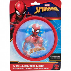 Lampa de veghe LED Spiderman Red SunCity, 14 x 14 x 5 cm