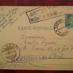 1941-C.P. circ.CENZURAT-Ploesti-T.Severin-Imprumutul reintregirii